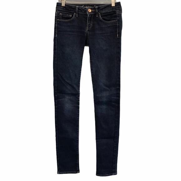 American Eagle women's blue denim skinny jeans 2